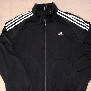 Adidas Zip Up Men's Hoodie Black Medium